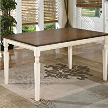 Phenomenal Ashley Furniture Signature Design Whitesburg Rectangular Dining Room Table Casual Style Brown Cottage White Pabps2019 Chair Design Images Pabps2019Com