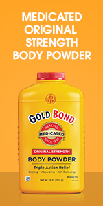 Gold Bond antifungal body powder.