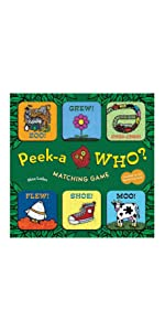 board book rhyme fun game peek a who baby children kid toddler classic gift baby shower guess game