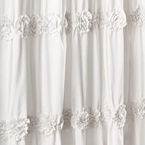 This Shower Curtain Is The Perfect Addition To Your Traditional Shabby Chic Farmhouse Or Cottage Style Bathroom Crafted Flowers Help Create A Calming