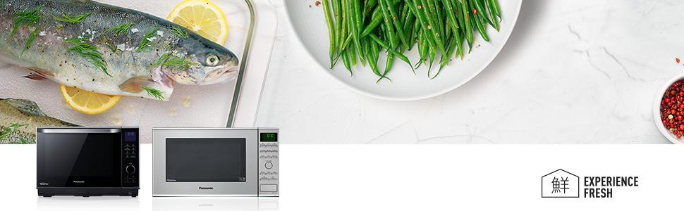 Inverter Mikrowelle mit Grill und Dampfgarer