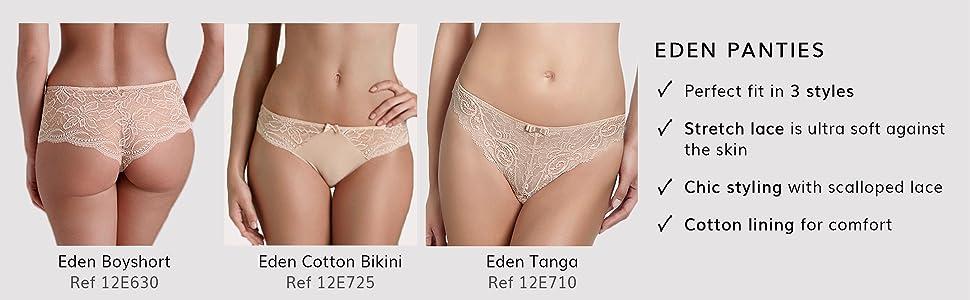 Simone Perele, Simone Perele panties, Eden, Eden tanga, Eden Bikini, 12E630, 12E725, 12E710