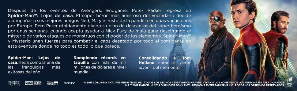 spider-man; lejos; casa; dvd; blu-ray; 4k; steelbook
