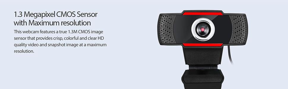 1.3 Megapixel CMOS Sensor with Maximum resolution