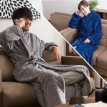 男女兼用の着る毛布です