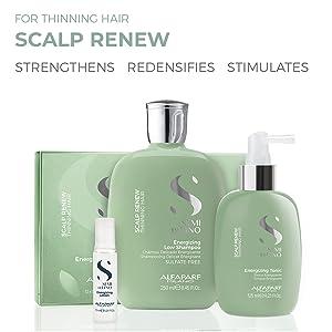 alfaparf milano scalp renew shampoo thinning hair loss alfa parf semi di lino care product growth