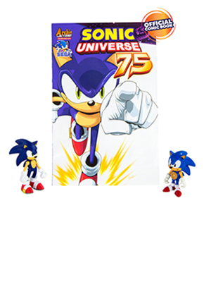 Sonic Collector Series 2 Figure Pack with Comic, Classic Sonic & Modern Sonic