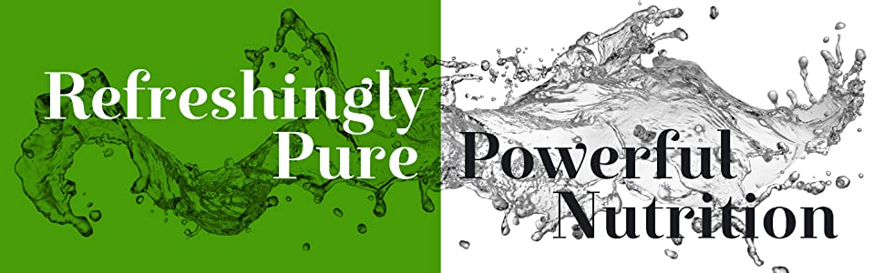 refreshingly pure, powerful nutrition