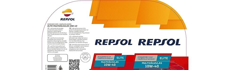 REPSOL ELITE MULTIVÁLVULAS 10W-40