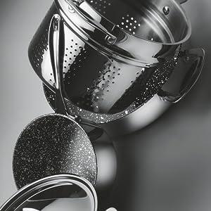 35 x 25cm Mepra 302190 Glamour Stone Rostiera Pan Stainless Steel