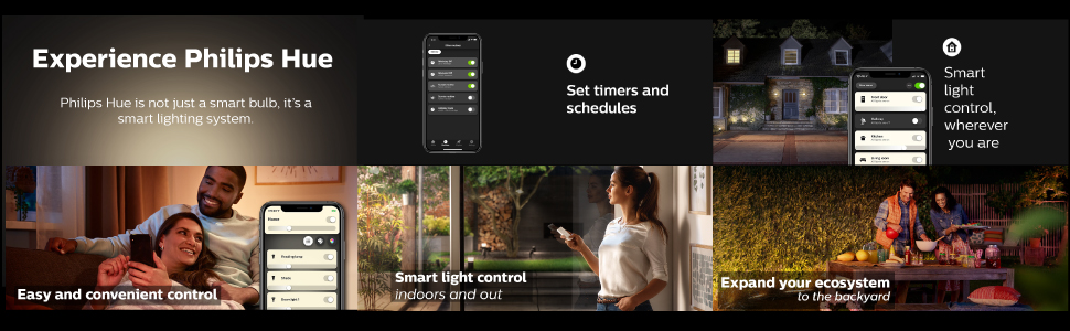 Philips; Hue; smart lighting; smart home; LED; white light; app controlled; voice controlled