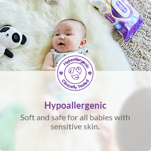 Soft and safe for all babies with sensitive skin