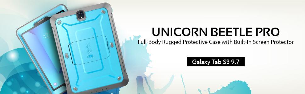 Galaxy Tab S3 Unicorn Beetle Pro case