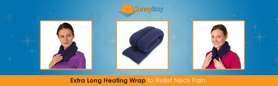 extra long heating wrap neck pain relief comfort