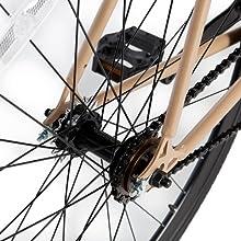 Moma Bikes Bicicleta Fixie Urbana, Fixie BeigeFixed Gear & Single ...