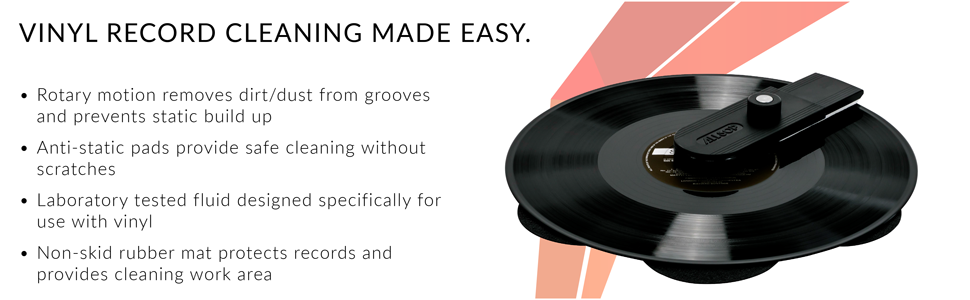 Vinyl record cleaner, vinyl cleaner, record cleaner, record cleaning, record cleaning system, record