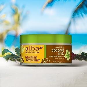 Amazon.com: Alba Botanica Hawaiian, Leche de Coco Crema ...