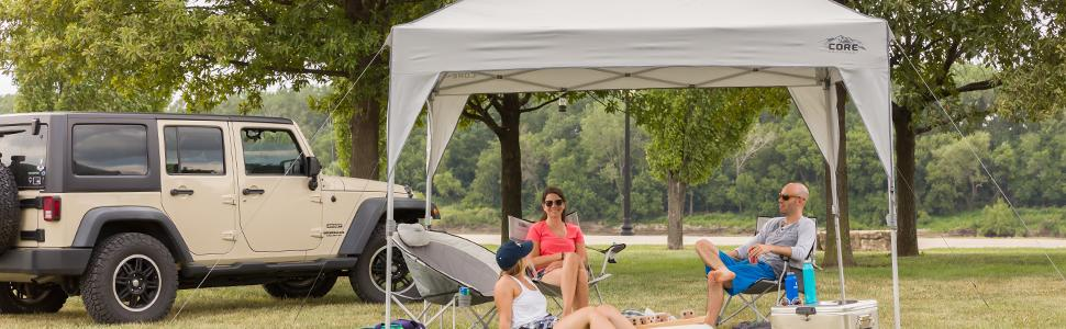 CORE 10' x 10' Instant Shelter Pop-Up Canopy Tent with Wheeled Carry Bag 10