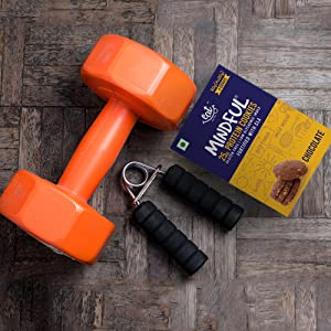 protein cookies dumbbell workout