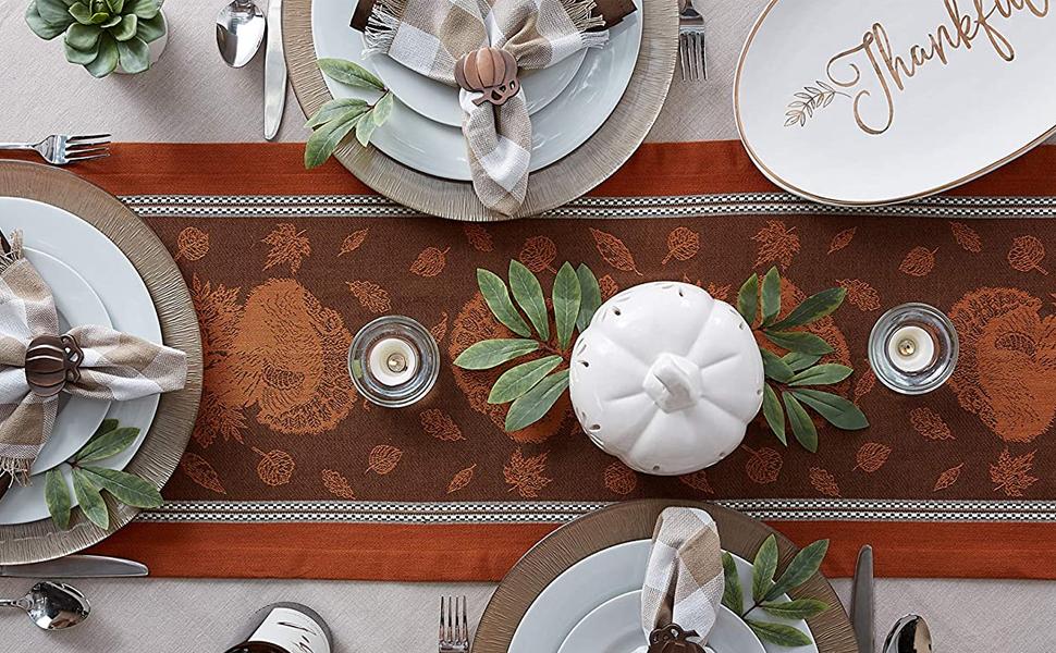 decor,fall,table,decoration,turkey,party,pumpkin,centerpiece,throw,runner,autumn,plates,mantle