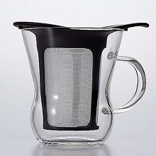 HARIO ハリオ はりお 耐熱ガラス たいねつ がらす TEE ティー お茶 おちゃ シンプル 簡単 カンタン 気軽 カワイイ 可愛い キレイ 綺麗  茶こしが長い 少ない湯量 一杯分