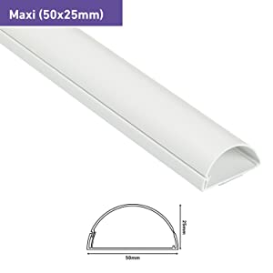 D-Line 50x25mm Moulure D/écorative en Demi-Cercle Goulotte /Électrique 1m Longeur Effet Ch/êne 1M5025O Cache-C/âble