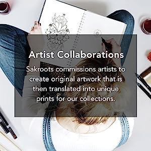 artists, prints, patterns, sakroots, collections, unique, art, design