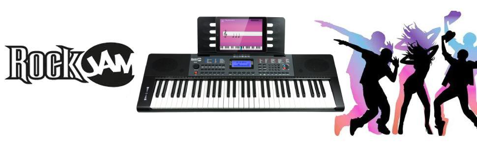 RockJam 61 teclas del teclado de piano con la inflexión del tono ...