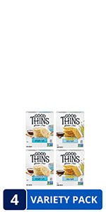 Good Thins Gluten Free Rice amp; Corn Crackers Variety Pack, 4 Boxes