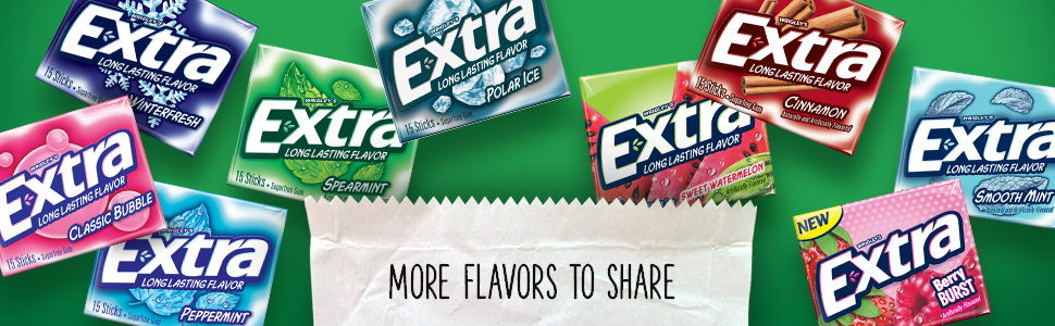 more extra flavors to share
