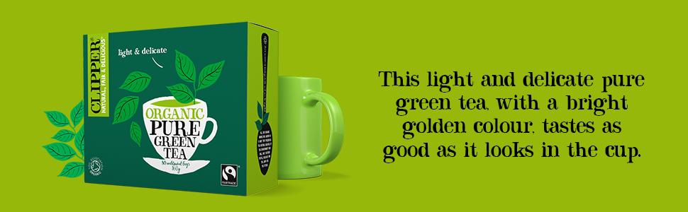 Organic Green Tea Banner