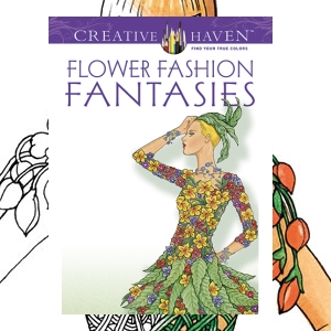 floral flower fashion coloring adult