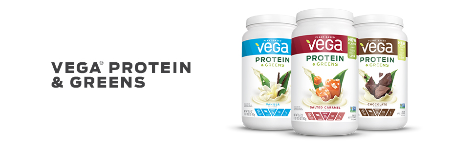 Vega Protein and Greens - Vegan, Gluten Free, Whey Free, Dairy Free, healthy shake drink mix