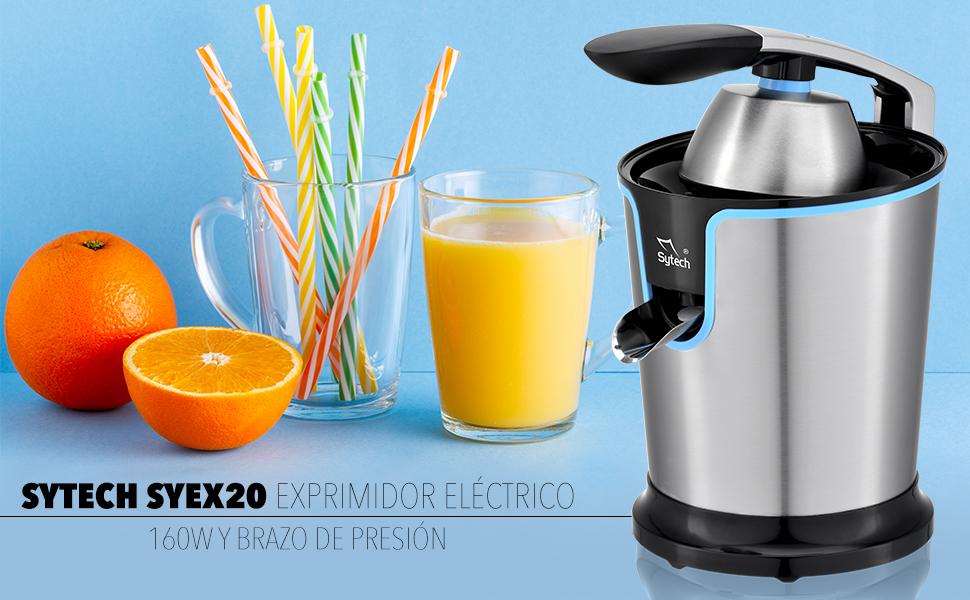 Sytech Exprimidor Electrico de Brazo, Azul, 160W: Amazon.es: Hogar