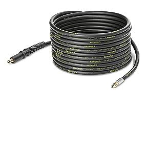 Tuyau pour Nettoyeur Haute Pression Karcher K2 K3 K4 K5 K6 K7-10m 200 bars Flexible Quick Connect avec Embouts en Laiton KNOFER