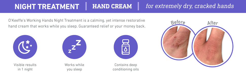 O'Keeffe's Working Hands Hand Cream Value Size, 6.8 oz., Jar night treatment mask