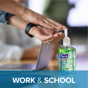 work sanitizer, table top sanitizer, aloe, kill germs, reduce absenteeism, healthy hands