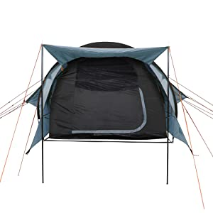 10T Tunnelzelt für 4 oder 5 Mann & div. Farben zur Wahl, Zelt mit Stehhöhe & XXL Schlafkabine, wasserdichtes 5000mm Familienzelt, Campingzelt mit