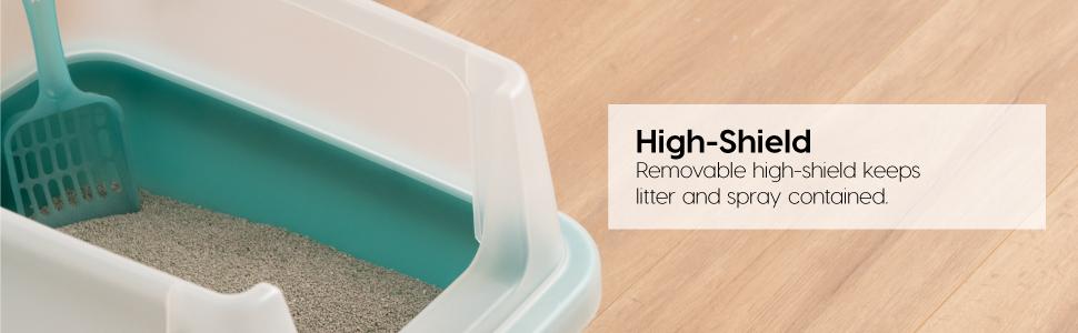 top entry litter box, covered litter box, cat litter box with lid, kitty litter box,