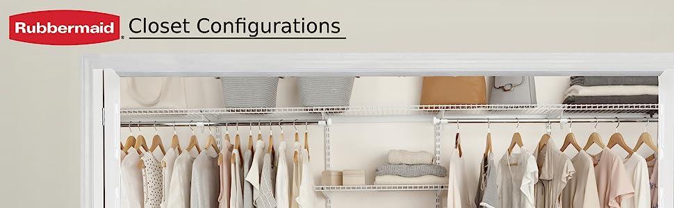 rubbermaid closet configurations organization organizer