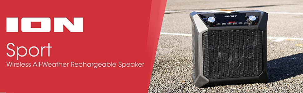 ion audio tailgater go waterproof compact wireless portable bluetooth speaker