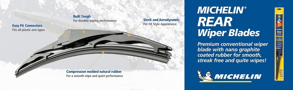 Pack of 1 12 inches Michelin 9512 Rear Windshield Wiper Blade