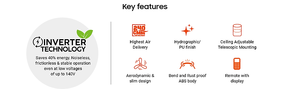 Features of Aeroslim ceiling fan