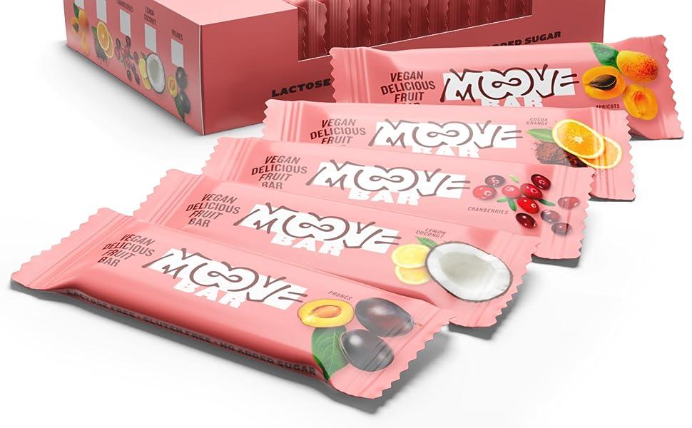 Moove - Barrita energética vegana con dátiles y albaricoques ...