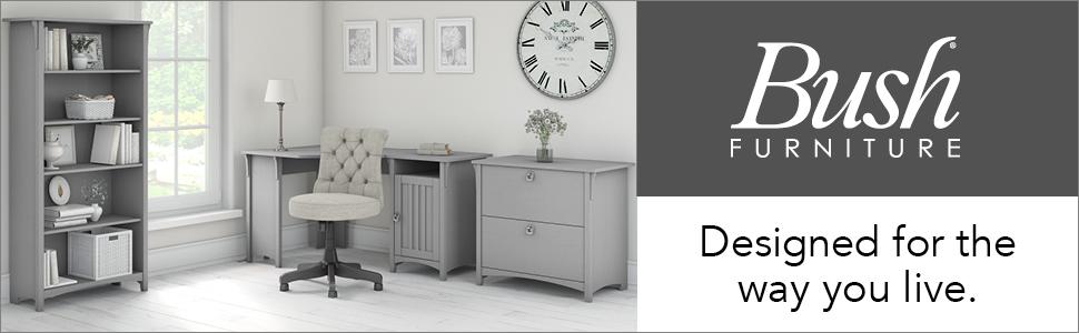 bush furniture,salinas,cape cod gray,casual