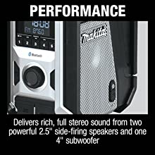 perforamnce delivers rich full stero sound from two powerful side firing speakers one subwooofer