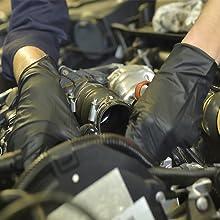 Dark Light Nitrile Disposable Gloves Auto Mechanic