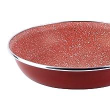 Magefesa Toscana Terracota - Lote de 3 sartenes, diámetro 18/20/24 cm, color borgoña