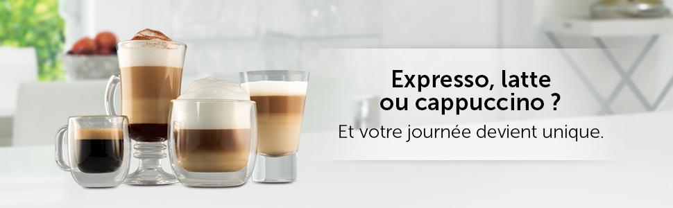 machine expresso, latte et cappuccino