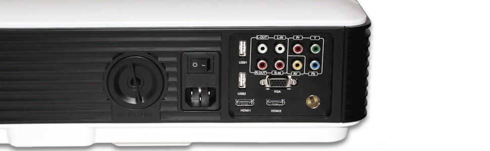 el unicview hd200 tiene todas las conexiones disponibles: conexion de hdmi, tv tdt, vga, av